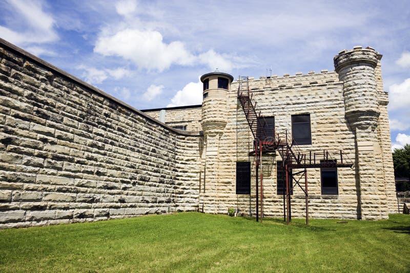 historyczne Illinois więzienia joliet ściany zdjęcie royalty free