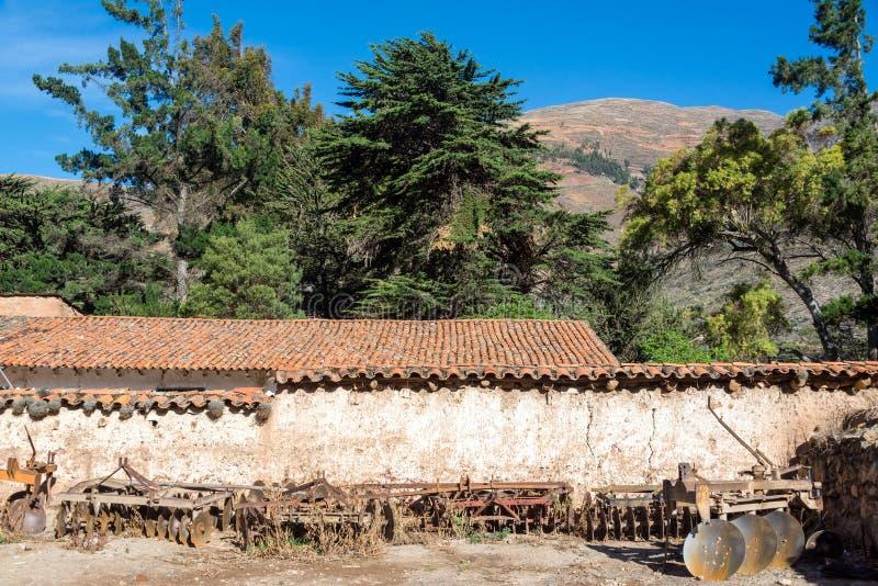 Historyczne Kolonialne hacjendy w Peru obraz royalty free