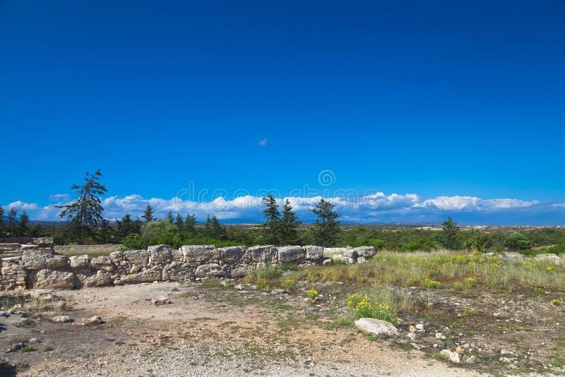 Historyczne ruiny w Cypr zdjęcie royalty free