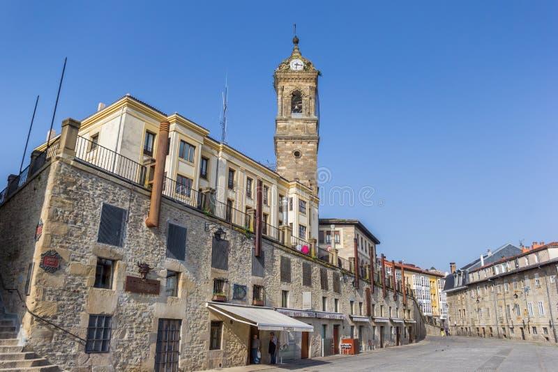 Historyczni budynki przy Aihotz placem w Vitoria-Gasteiz zdjęcie stock