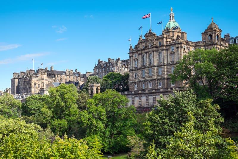 Historyczni budynki w Edynburg fotografia royalty free