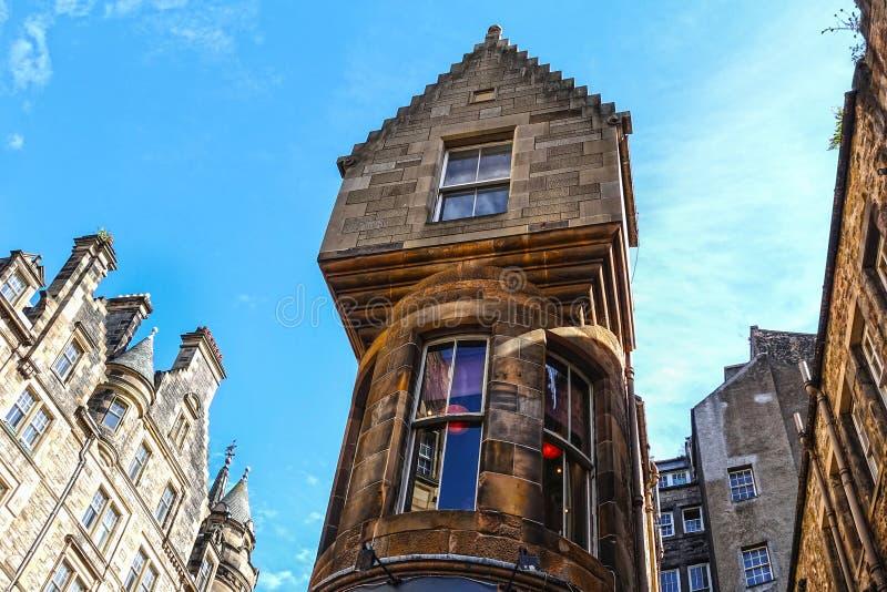 Historyczni budynki w Edynburg, Szkocja obraz royalty free