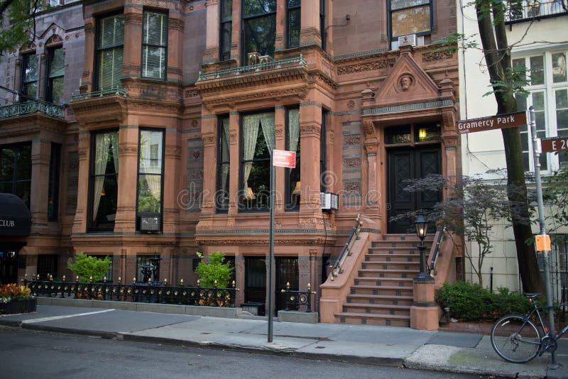 Historyczni budynki w Gramercy parku, Manhattan, Miasto Nowy Jork zdjęcie royalty free