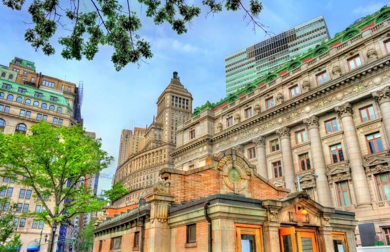 Historyczni budynki w Manhattan, Miasto Nowy Jork fotografia stock