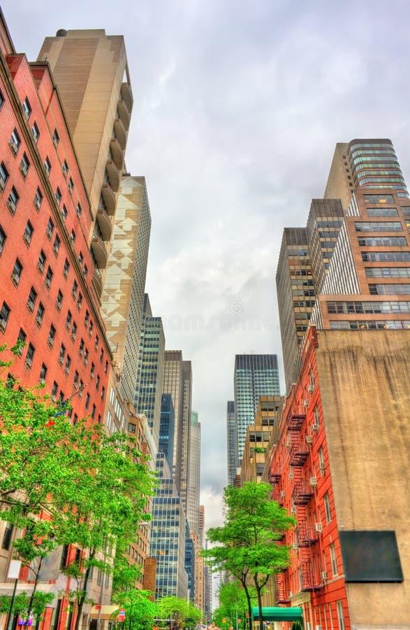 Historyczni budynki w Manhattan, Miasto Nowy Jork obraz stock