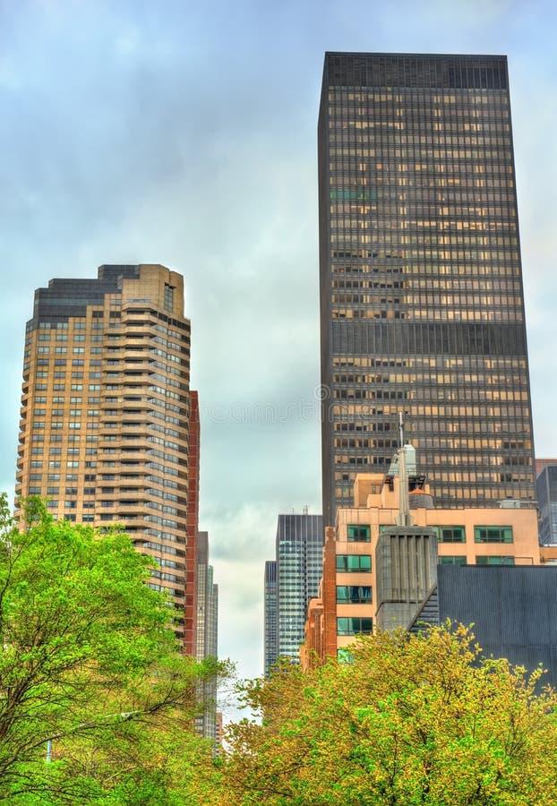 Historyczni budynki w Manhattan, Miasto Nowy Jork zdjęcia royalty free