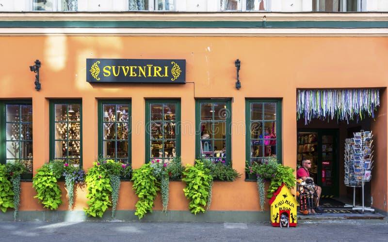 Historyczni budynki w Stary Ryskim fotografia royalty free