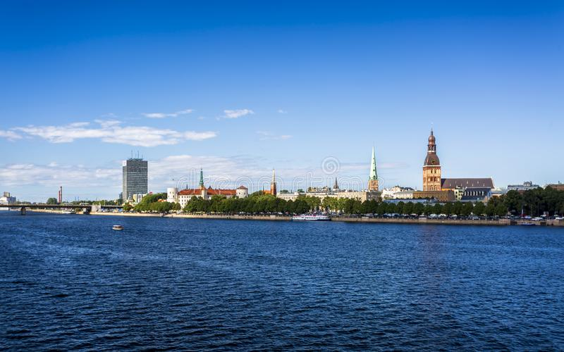 Historyczni budynki w Stary Ryskim obrazy royalty free