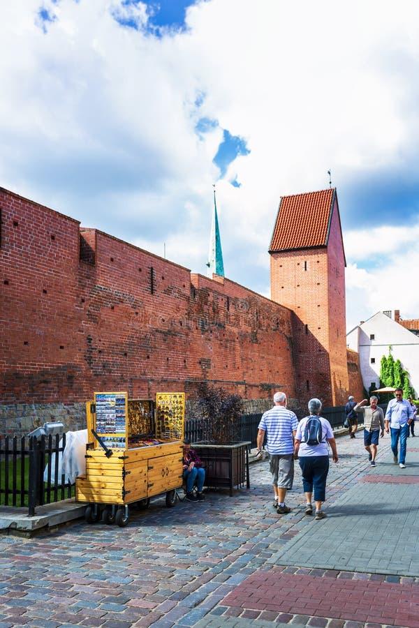 Historyczni budynki w Stary Ryskim zdjęcie royalty free