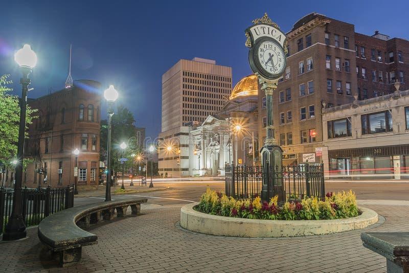 Historyczni budynki w Utica, Nowy Jork obraz stock