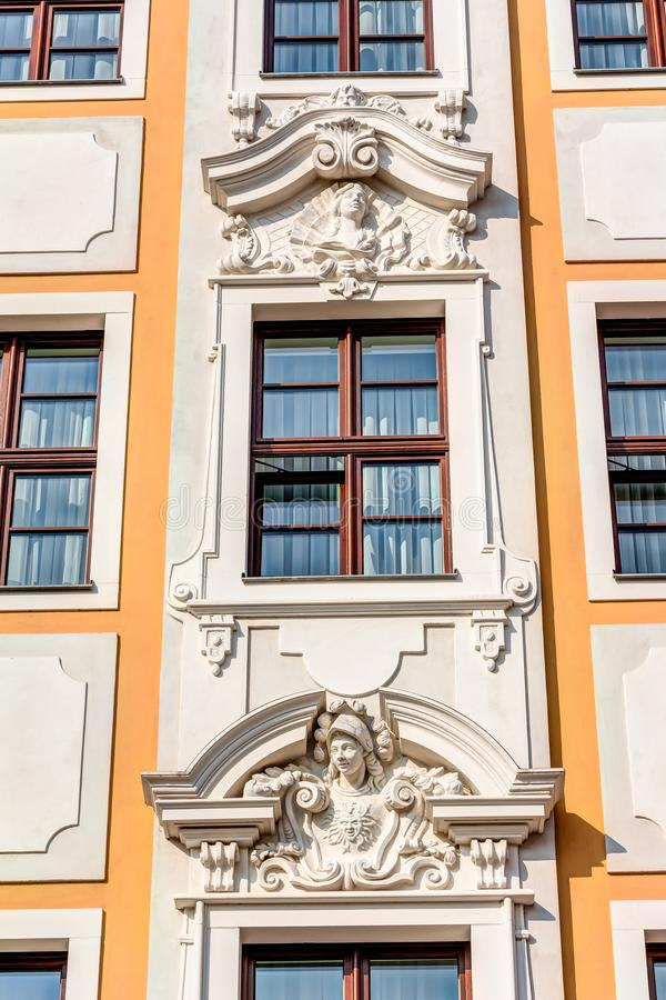 Historyczni buidlings w Drezdeńskim zdjęcie royalty free