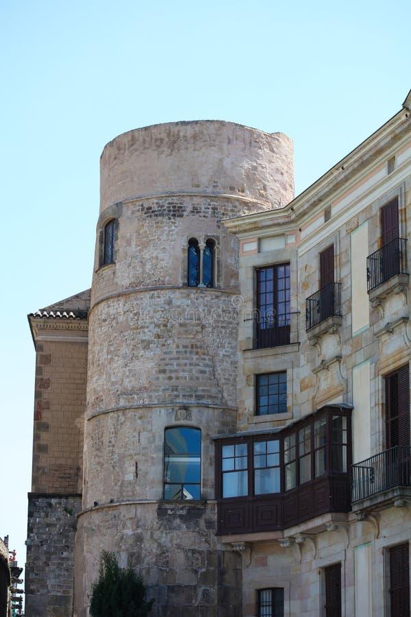 Historyczni domy Barri Gotic obrazy stock