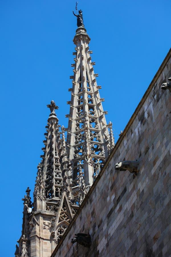 Historyczni domy Barri Gotic obraz royalty free