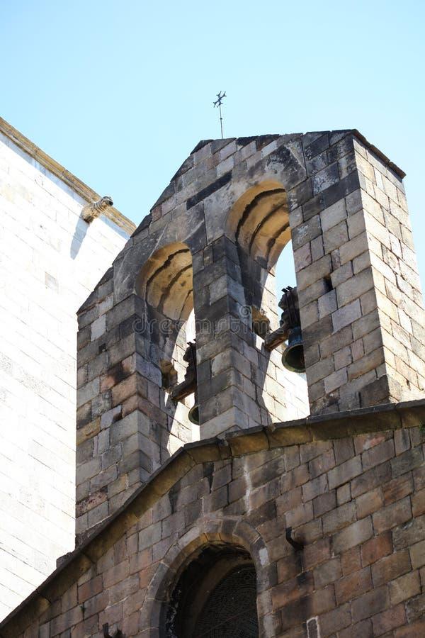 Historyczni domy Barri Gotic zdjęcia royalty free