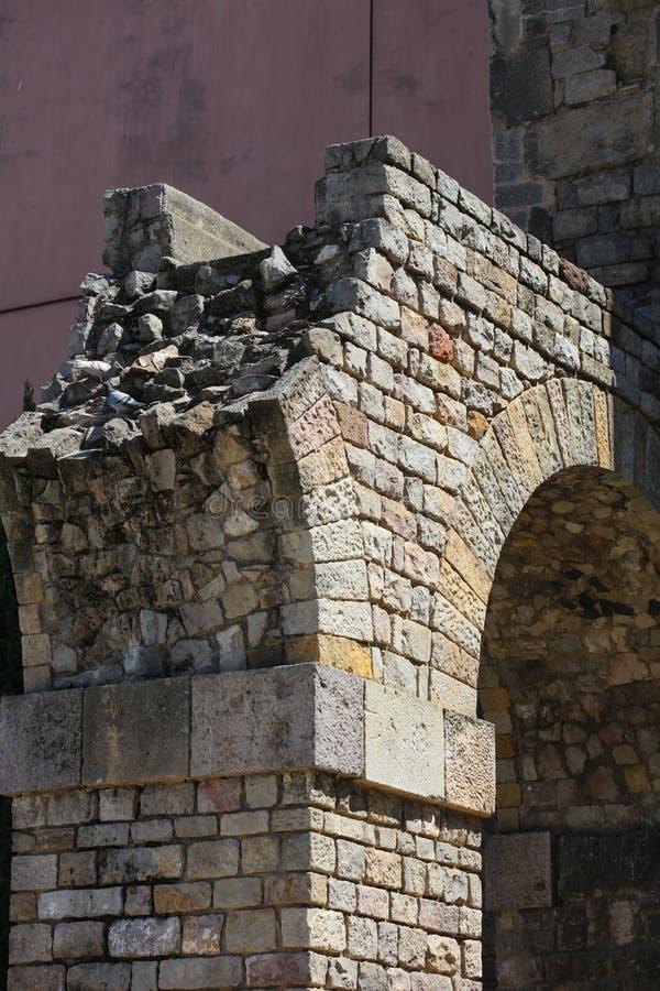 Historyczni domy Barri Gotic fotografia stock