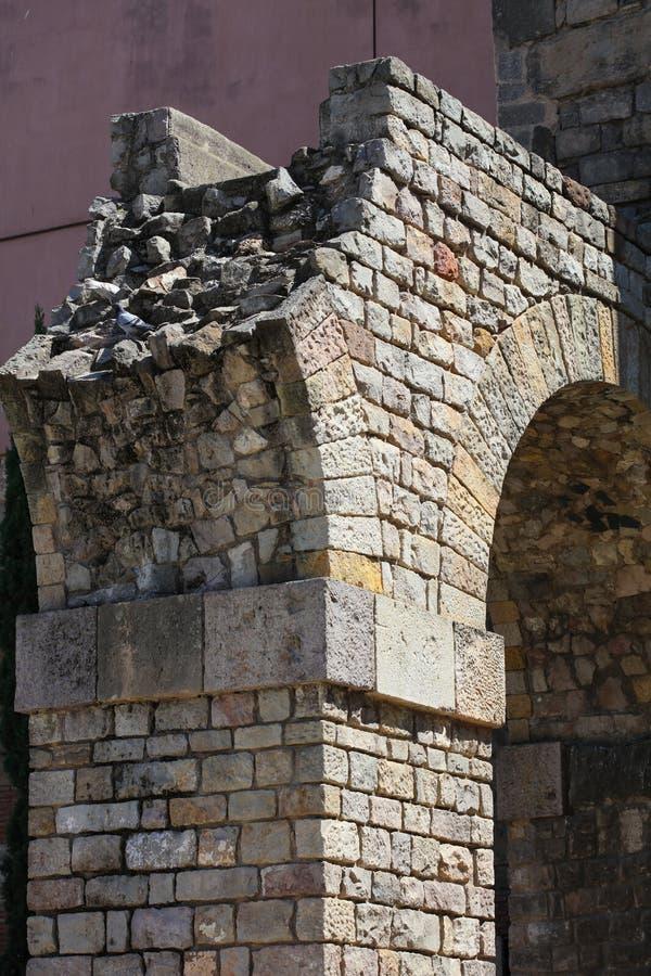 Historyczni domy Barri Gotic obrazy royalty free
