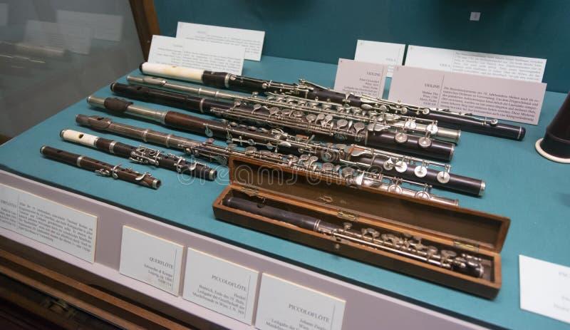 Historyczni flety Przy Kunsthistorisches muzeum sztuki Muzealną historią, Wiedeń, Austria obrazy royalty free