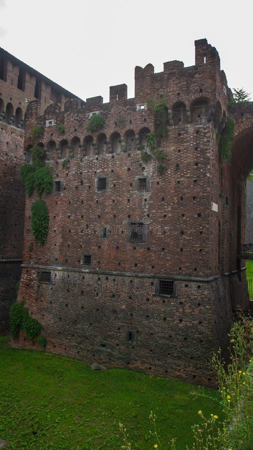 Historyczni grodowi wysocy mury obraz stock