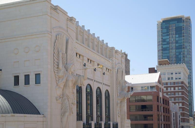 Historyczni i nowożytni budynki w Fort Worth zdjęcie royalty free