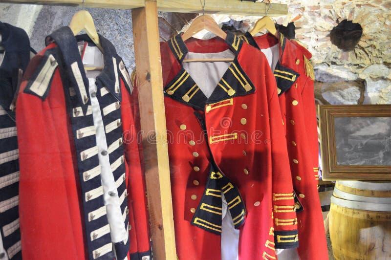 Historyczni mundury w Gibralter zdjęcia stock
