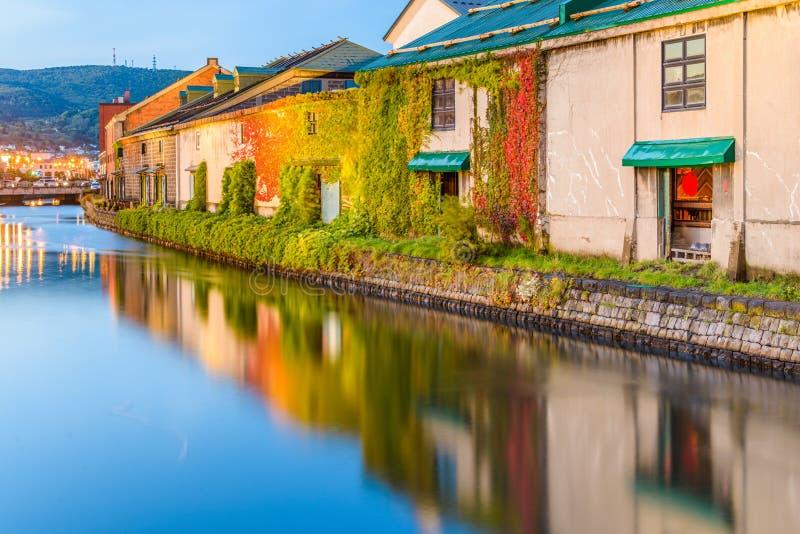 Historyczni Otaru kanały w Otaru zdjęcia royalty free
