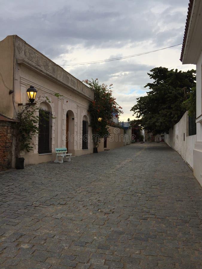 Historyczny ćwiartki Colonia Urugwaj UNESCO zdjęcie royalty free