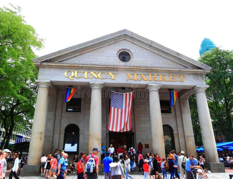 Historyczny Boston Quincy rynek zdjęcie royalty free
