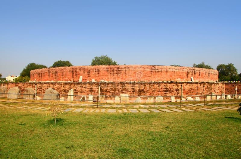 Historyczny Buddha zabytek w Amaravati fotografia royalty free