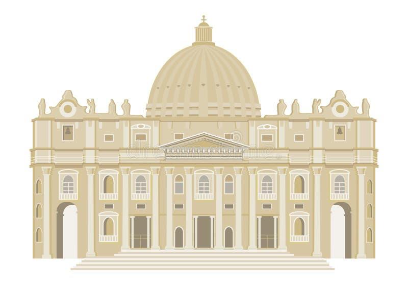 Historyczny budynek royalty ilustracja