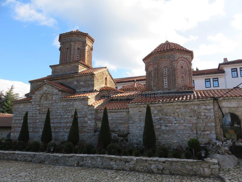 Historyczny budynek monaster Świątobliwy Naum, Macedonia zdjęcia royalty free
