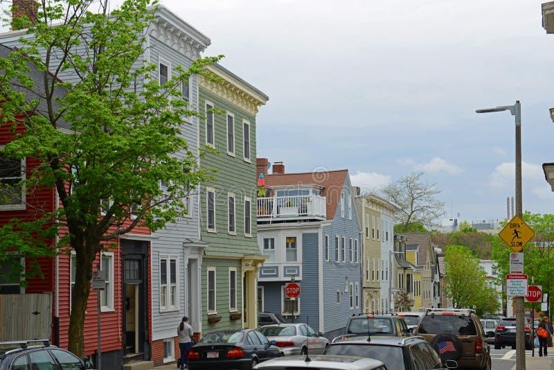 Historyczny budynek w Charlestown, Boston, MA, usa obraz stock