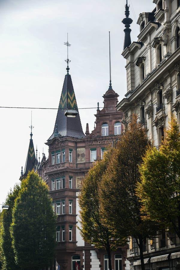 Historyczny budynek w lucernie, Szwajcaria zdjęcie stock