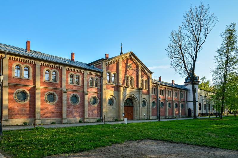 Historyczny budynek w Pszczyna, Polska zdjęcie royalty free