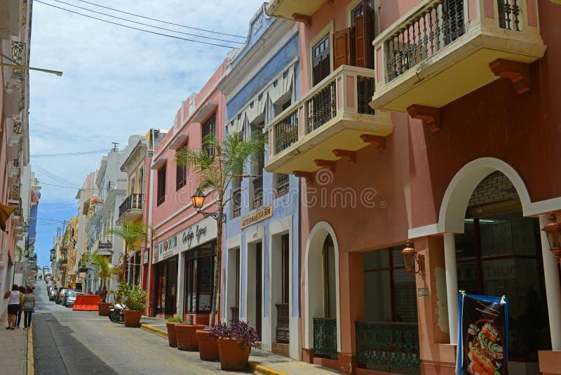 Historyczny budynek w Starym San Juan, Puerto Rico obraz stock