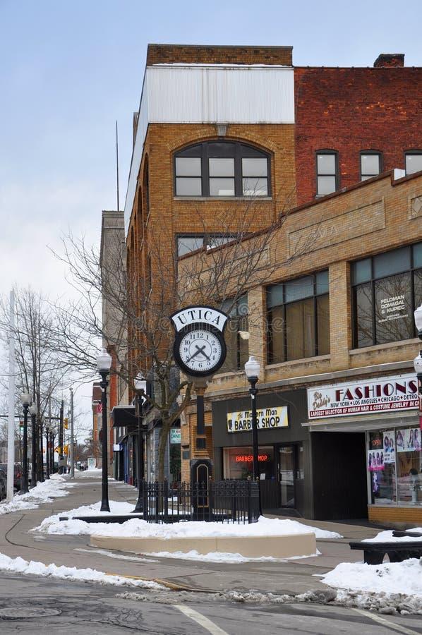 Historyczny budynek w Utica, stan nowy jork, usa zdjęcia royalty free