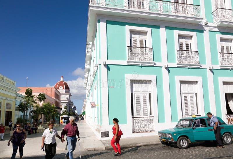 Historyczny centrum, Cienfuegos, Kuba zdjęcie stock