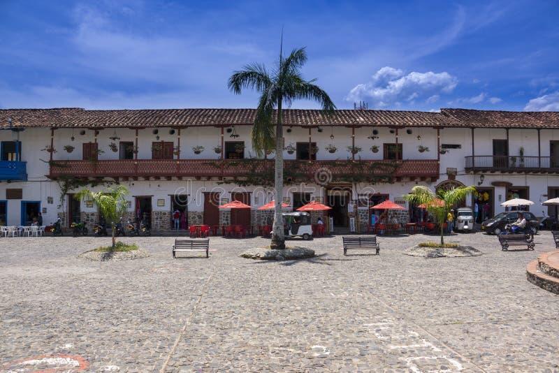 Historyczny centrum miasta Kolumbia, Santa Fe De Antioquia - zdjęcia royalty free