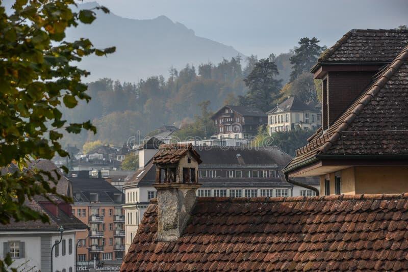 Historyczny centrum miasta lucerna, Szwajcaria obraz stock