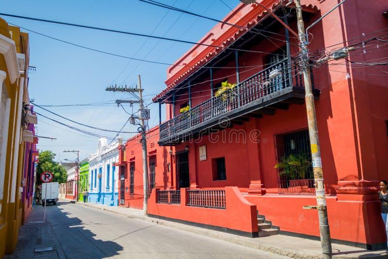 Historyczny centrum w Santa Marta, karaibski miasto zdjęcie royalty free