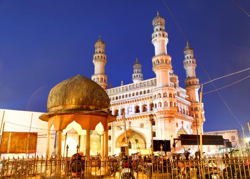 Historyczny Charminar w Hyderabad obrazy royalty free