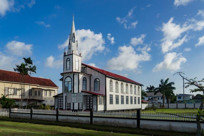 Historyczny churvh wokoło Georgetown, Guyana zdjęcie royalty free