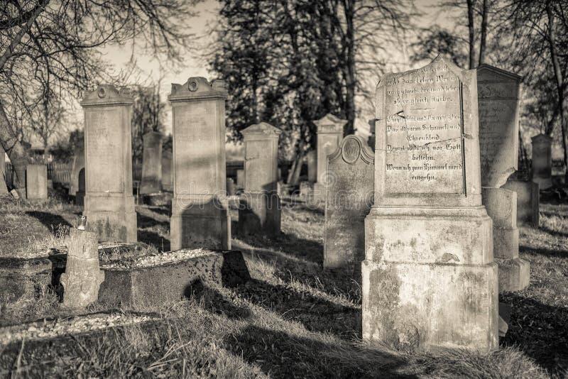 Historyczny cmentarz - Polska (xviii wiek) zdjęcia royalty free