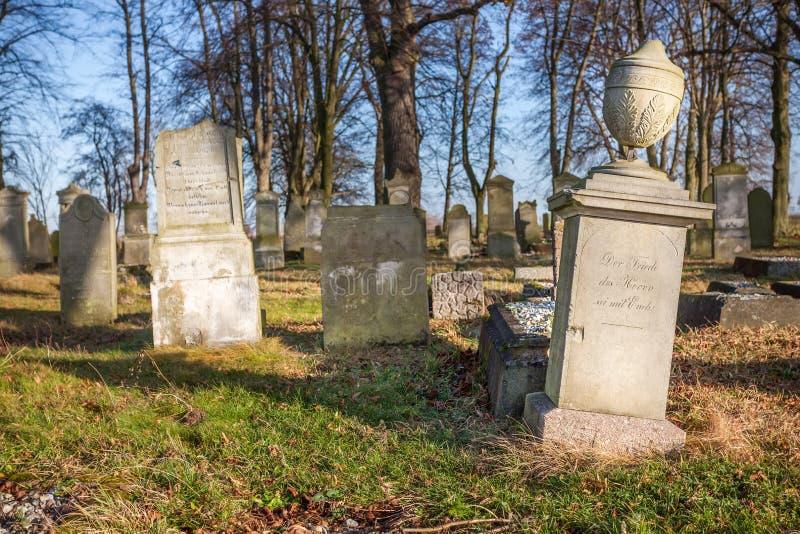 Historyczny cmentarz - Polska (xviii wiek) obraz stock