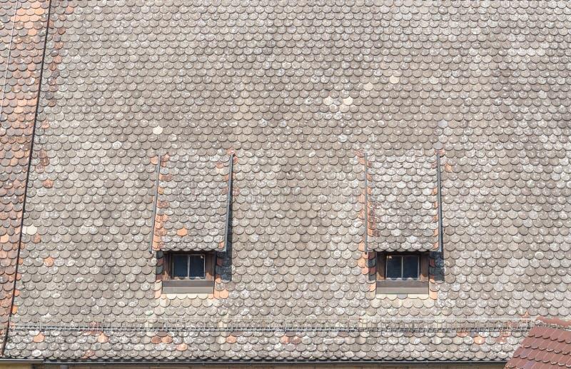 Historyczny dachowy szczegół zdjęcia stock