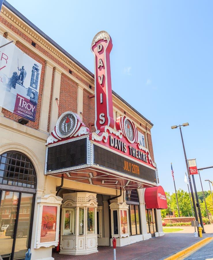 Historyczny Davis teatr Budujący w Dziewiętnaście Dwadzieścia dziewięć w Mongomery, Alabama obraz royalty free
