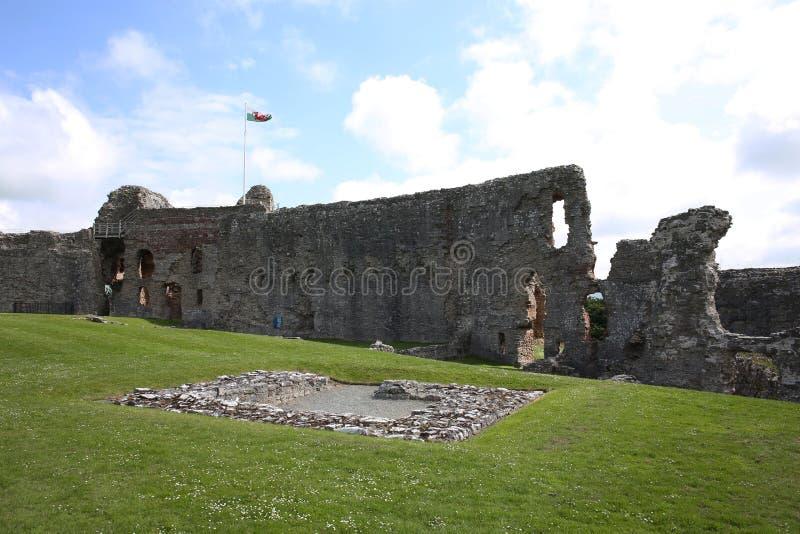 Historyczny Denbigh kasztel w Walia, Wielki Brytania zdjęcia royalty free