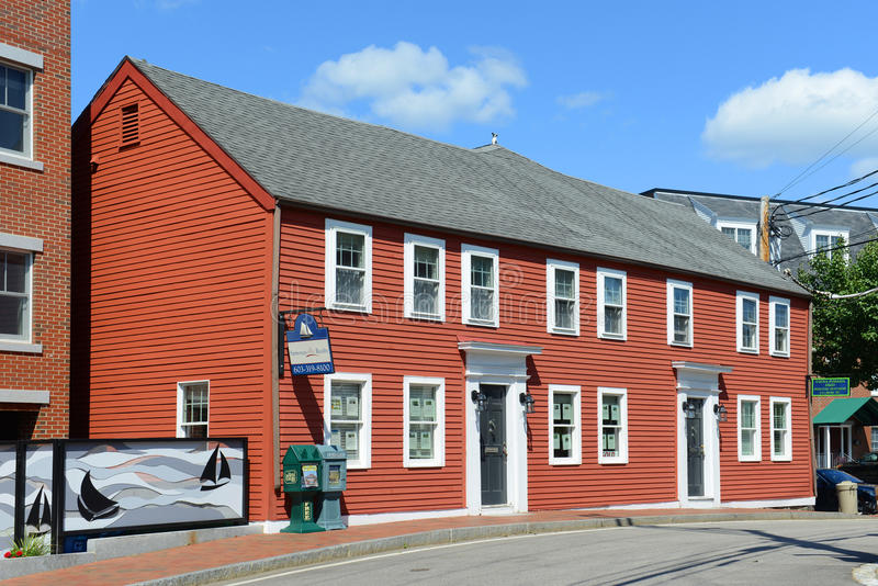 Historyczny dom, łęk ulica, Portsmouth, New Hampshire obrazy stock