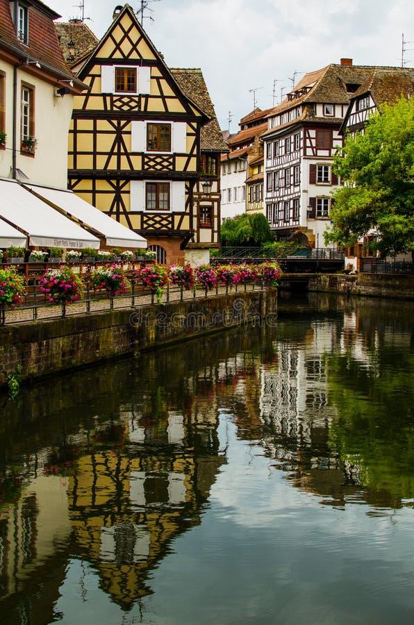 Historyczny dom los angeles Mały Francja w Strasburg, Alsace, Francja zdjęcie royalty free