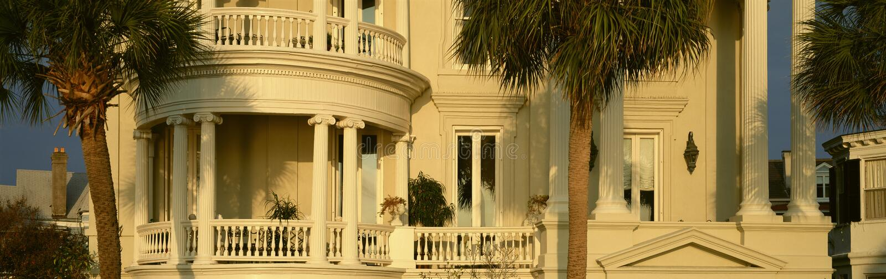Historyczny dom na Bateryjnej ulicie w Charleston, SC zdjęcie stock