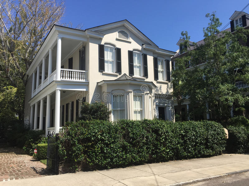 Historyczny dom na Tradd ulicie, Charleston, SC obraz stock